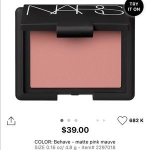🍉2/40$🍉 NWOT nars « behave » blush